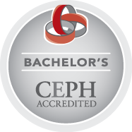 Accreditation seal for the Council on Education for Public Health